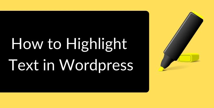 Highlight Text in Wordpress