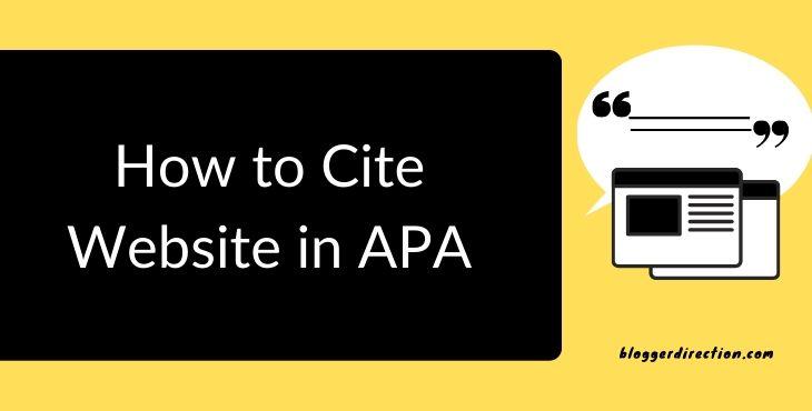 Cite website in APA