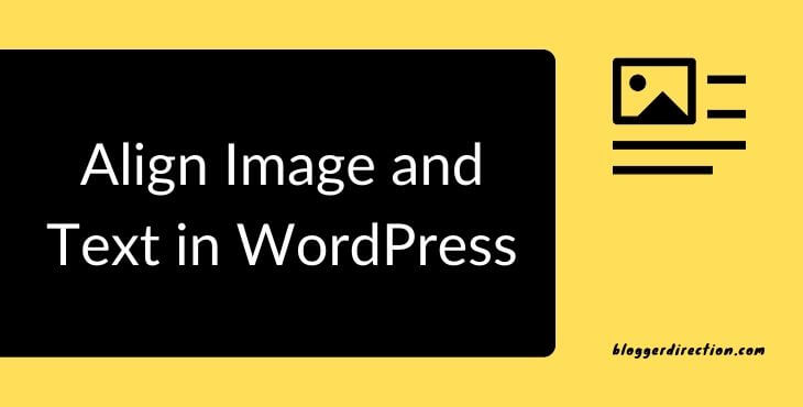 How to align image and text in WordPress